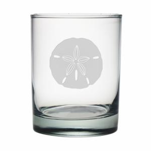 Sand Dollar Etched Dor Glass Set