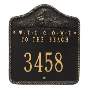Personalized Welcome To The Beach Plaque, Black / Gold
