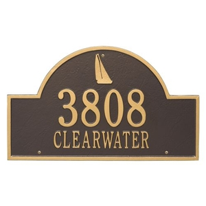 Personalized Sailboat Arch Plaque, Bronze / Gold