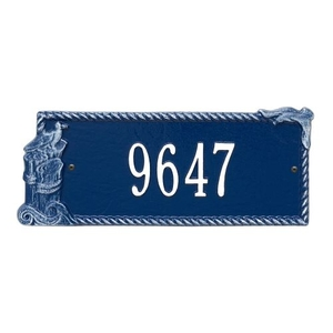 Personalized Seagull Rectangle Plaque, Blue / White