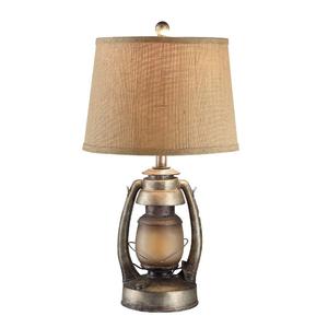 "Antique ""Oil Lantern"" Table Lamp"
