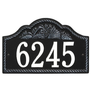 Personalized Rope Shell Arch Plaque Wall, Black / White