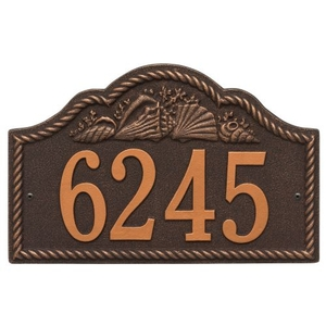 Personalized Rope Shell Arch Plaque Wall, Oil Rub Bronze