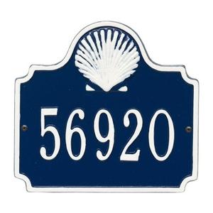 Personalized Conch Plaque, Blue / White