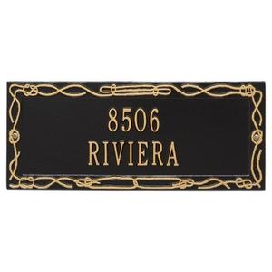 Personalized Sailor'S Knot Plaque, Black / Gold