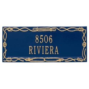 Personalized Sailor'S Knot Plaque, Blue / Gold