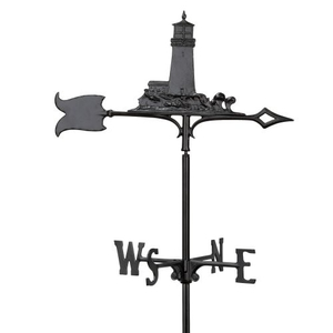 "30"" Lighthouse Weathervane, Black"