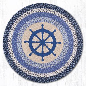 Nautical Wheel Round  Rug