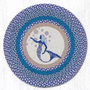 Blue Mermaid Round  Rug