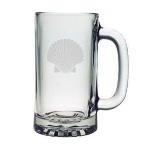 Scallop Shell Etched Sports Beer Mug Set