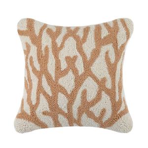 Coral Tan Hook Pillow