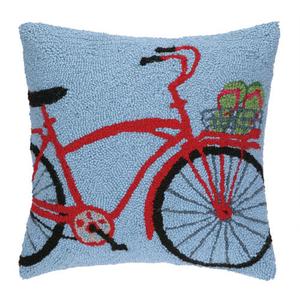 Flip Flop On Bike Bike Hook Pillow