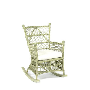Interior Classic Wicker Beehive Rocker with Cushion