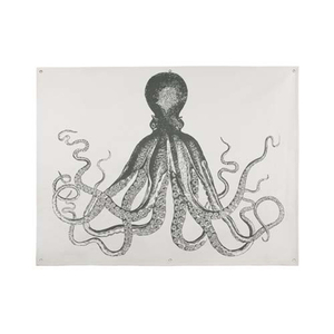 Octopus Wall Panel In Charcoal