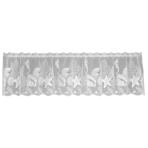 Seascape 60X14 Window Valance, White