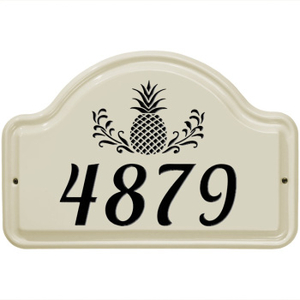 Pineapple Ceramic Arched Address Plaque