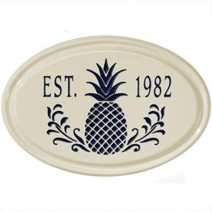 Personalized Pineapple Ceramic Plaque
