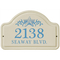 Starfish Ceramic Arched Address Plaque