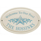 Star Fish Ceramic Oval Welcome To Our Pool Plaque