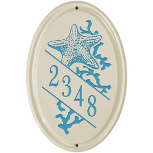 Starfish Ceramic Vertical Address Plaque