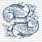 Custom Embroidered Coastal Duvet (Design Selection I)