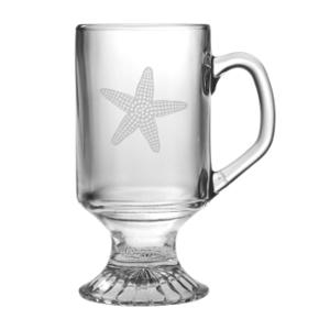 Star Fish, Footed Mug, 10Oz., S/4