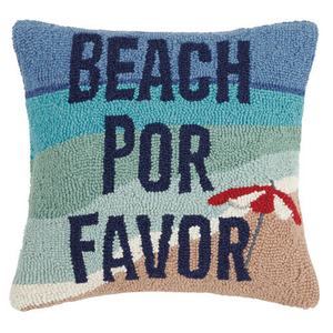 Beach Por Favor Hook Pillow