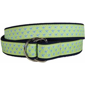 Starfish (Key Lime) D-Ring Belt