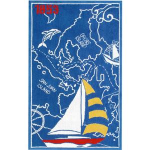 Sailboat And Map-1853  Rug