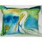 White Pelican Outdoor Pillow