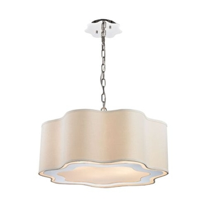 Villoy 6 Light Drum Pendant In Polished Stainless Steel And Nickel