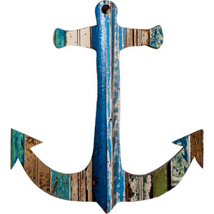 Anchor Wooden Plaque