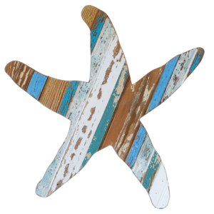 Starfish Wooden Wall Plaque