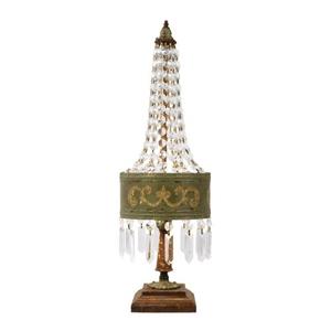 Eiffel Table Lamp In Parisian Moss