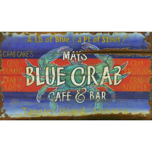 Blue Crab Personalized Beach Sign