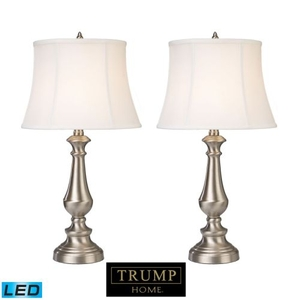 Trump Home Fairlawn Led Table Lamps In Nickel - Set Of 2