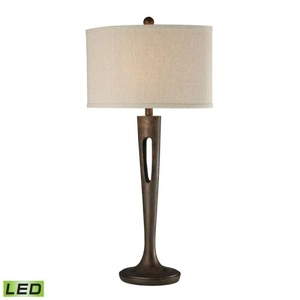 Martcliff Led Table Lamp In Burnished Bronze