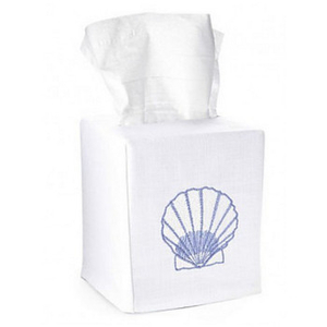 Scallop Shell Tissue Box Cover
