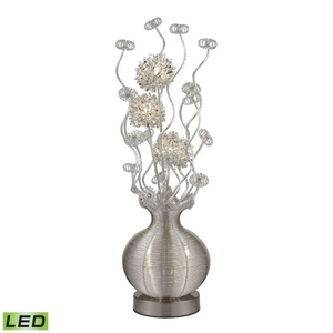 Lazelle Contemporary Floral Display Floor Lamp In Silver