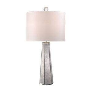 Hexagonal Mercury Glass Lamp