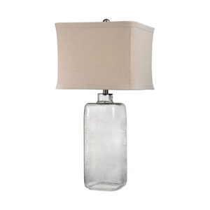 Hammered Grey Glass Lamp