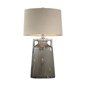 Grey Reaction Glaze Urn Lamp