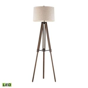 Wooden Brace Led Tripod Floor Lamp