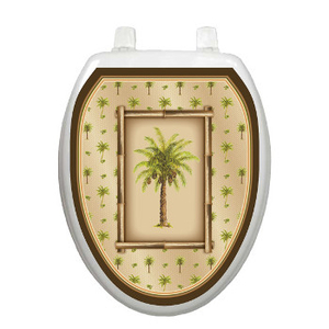 Palm Tree Toilet Seat Decoration