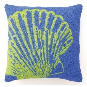 Blue Scallop Shell Hook Pillow