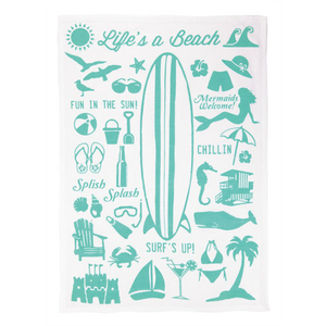Life's A Beach Kitchen Towel
