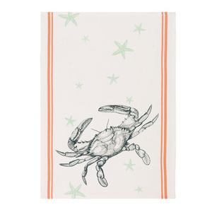 Crab and Starfish Kitchen Towel
