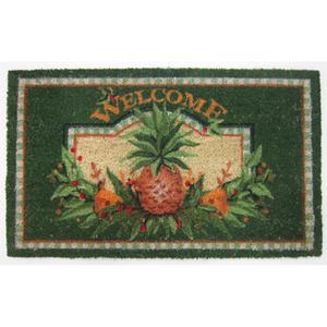 Green Pineapple Welcome Doormat