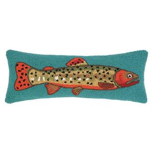 Blue Trout Hook Pillow
