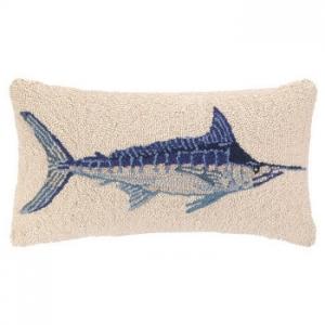 Blue Marlin Hook Pillow